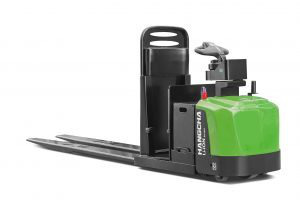 A Series Center-Controlled Rider Pallet Jack Lithium-ion